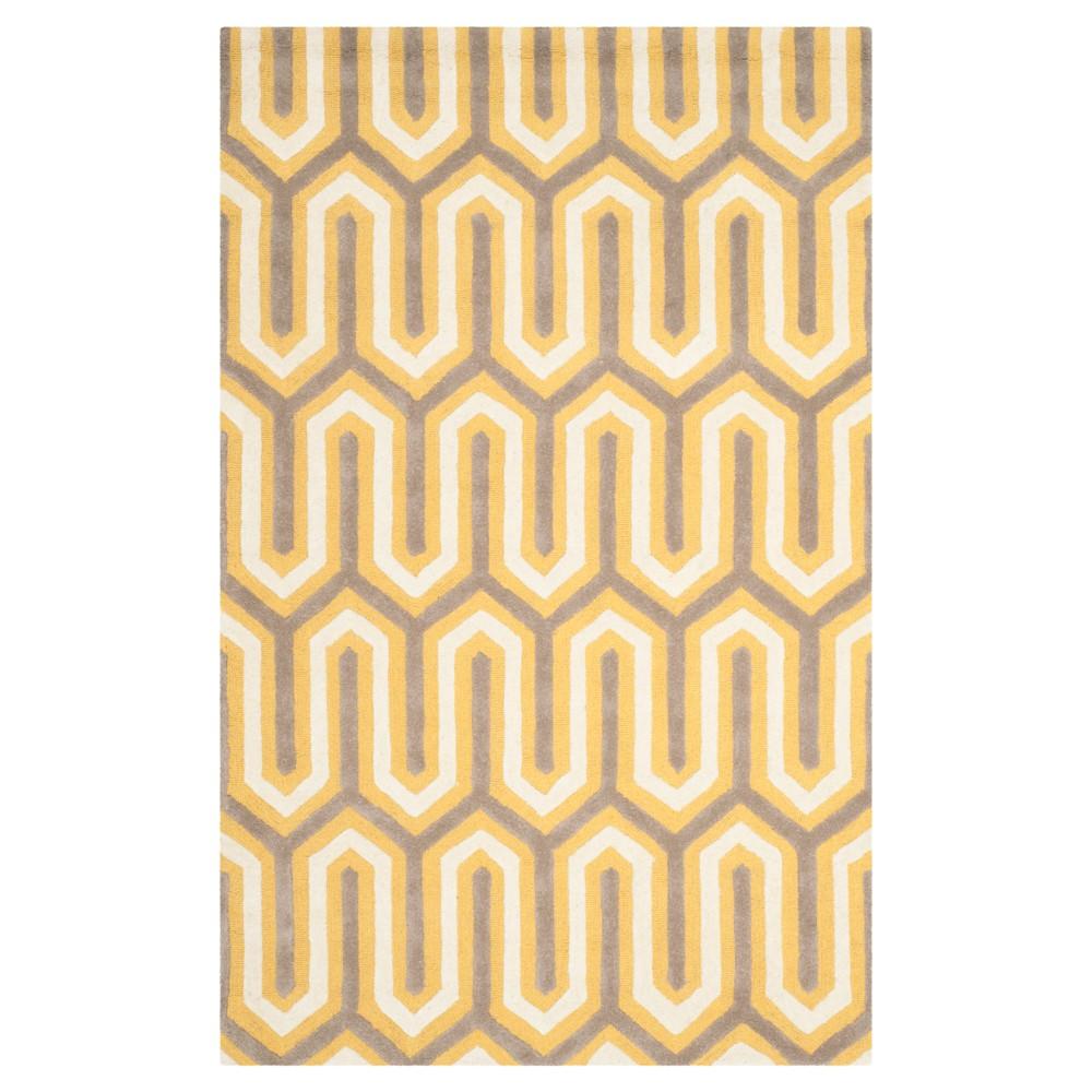 Aveline Textured Area Rug - Gold/Gray (5'x8') - Safavieh