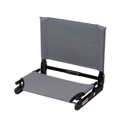 Stadium Chair Game Changer Heavy Duty Folding Canvas Bleacher Cushion Seat Gray