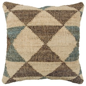 Geometric Decorative Filled Oversize Square Throw Pillow Brown - Rizzy Home