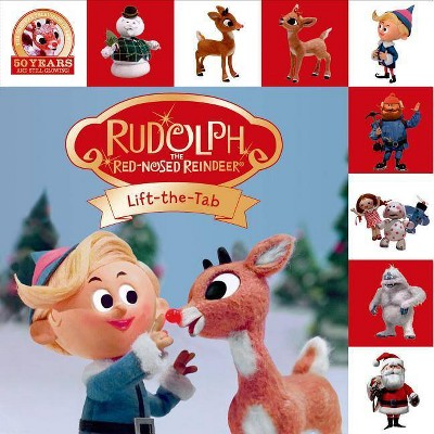 Rudolph the Red-Nosed Reindeer Lift-The-Tab - (Lift-The-Flap Tab Books) by  Roger Priddy (Board Book)