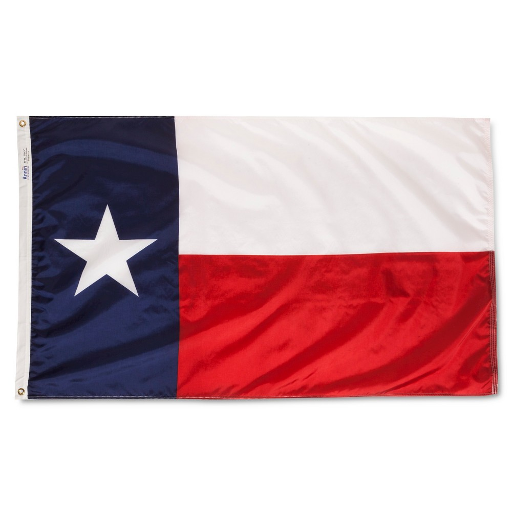 Image of Texas State Flag - 3' x 5', White Red Blue