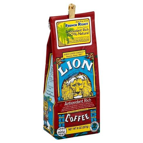 Lion Coffee French Roast Antioxidant Rich Dark Roast Ground Coffee - 8oz - image 1 of 1