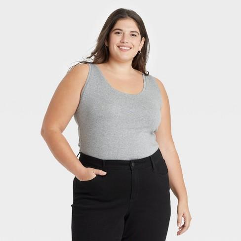 Women's Plus Size Tank Top - Ava & Viv™ - image 1 of 3