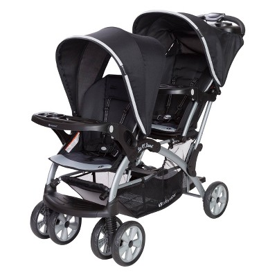 Baby Trend Sit N' Stand Double Stroller - Optic Gray