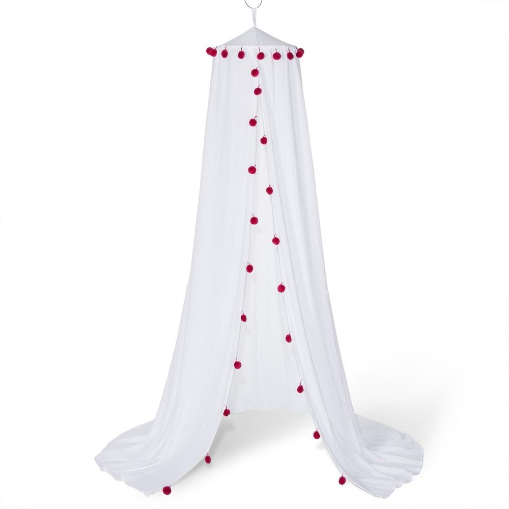 Pom Pom Bed Canopy White - Pillowfort