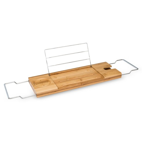 Image result for bamboo bathtub caddy target