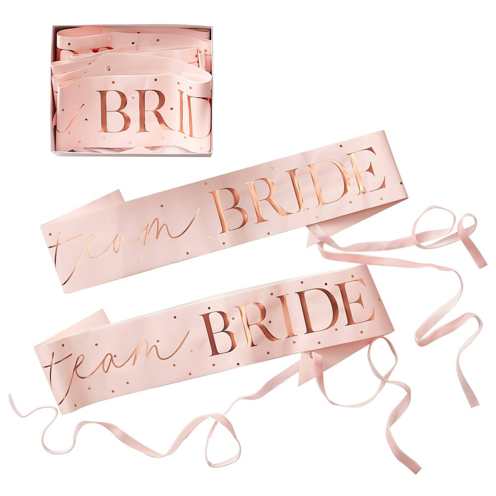 Image of 6pk 'Team Bride' Sash Pack