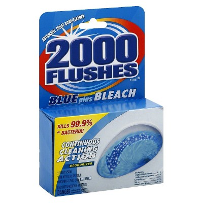 2000 Flushes Blue plus Bleach - 3.5oz