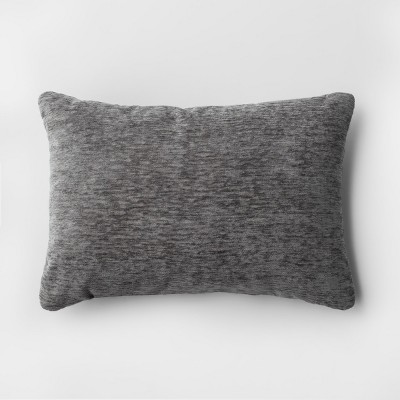 Solid Lumbar Chenille Throw Pillow Gray - Threshold™