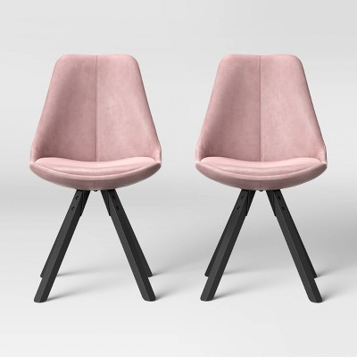 Set of 2 Russel Velvet Dining Chair Blush - Project 62™