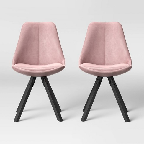 Set Of 2 Russel Velvet Dining Chair Blush Project 62 Target