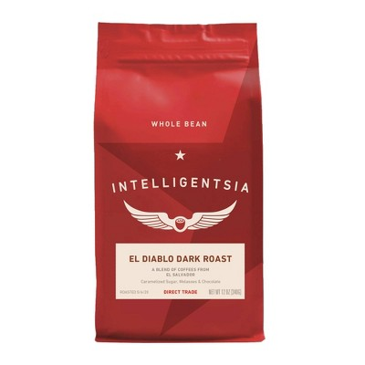 Intelligentsia Direct Trade El Diablo Dark Roast Whole Bean Coffee -12oz