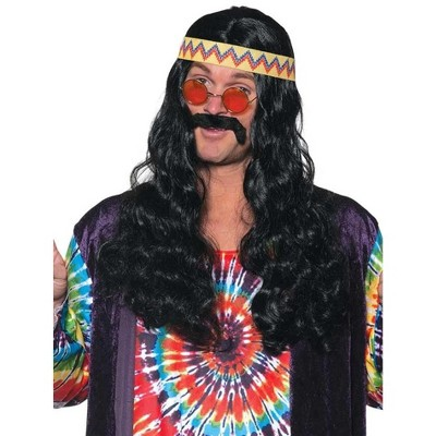 Underwraps Long Curly Hippie One Size Adult Costume Wig | One Size