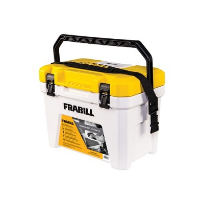 Frabill FRBBA219 19 Quart Capacity Heavy Duty Organizing Magnum Tackle Box Bait Station with 2 Speed Water Resistant Battery Powered Aerator