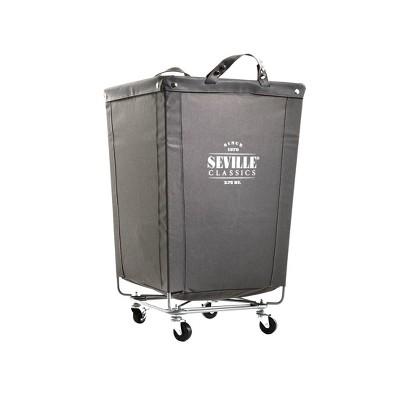 Seville Classics Commercial Heavy Duty Laundry Hamper Canvas Gray
