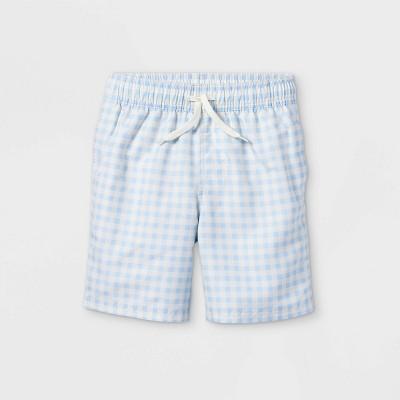 Boys' Gingham Swim Shorts - Cat & Jack™ Blue