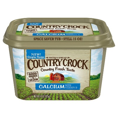 Country Crock Calcium Vegetable Oil Spread Tub - 15oz