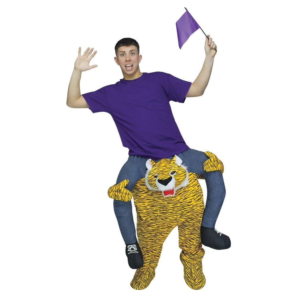 Adult Ride a Tiger Costume, Men's, Multi-Colored