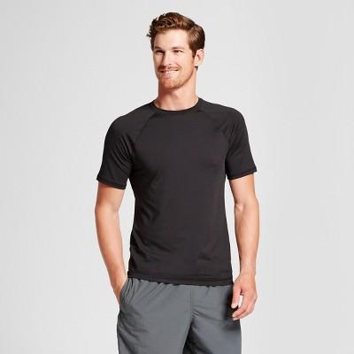 Men's Short Sleeve Raglan Rash Guard - Goodfellow & Co™ Black XL