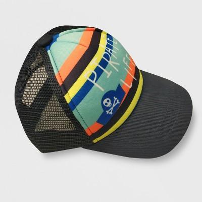 Baby Boys' Pirate Life Striped Baseball Hat - Cat & Jack™ Navy 12-24M