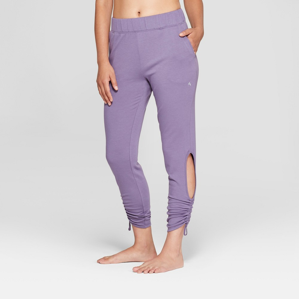 Women's Fleece Cut - Out Jogger Pants - JoyLab Violet Smoke S