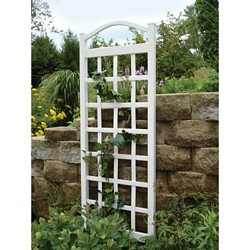 "76"" Cambridge Vinyl Trellis - White - Dura-Trel"