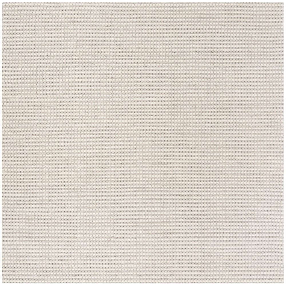 6'X6' Solid Woven Square Area Rug Silver/Ivory - Safavieh