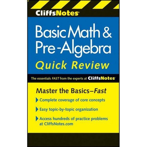 CliffsNotes Basic Math & Pre-Algebra Quick Review (Paperback) by Jerry Bobrow - image 1 of 1
