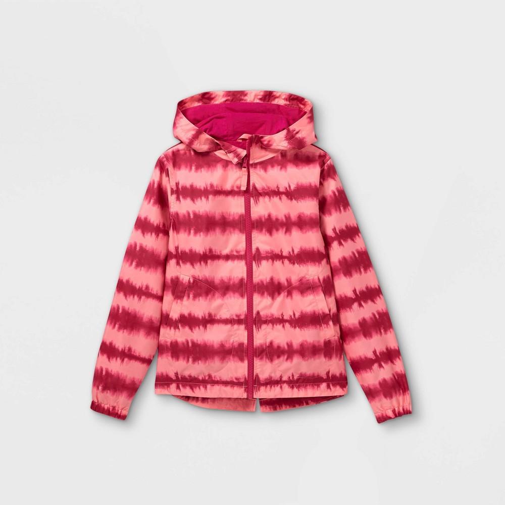 Girls 39 Tie Dye Windbreaker Jacket Cat 38 Jack 8482 Pink M