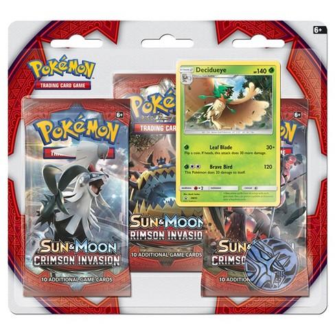Pokemon Trading Cards Sun Moon Crimson Invasion 3 Pack Blister featuring Hydreigon - image 1 of 1
