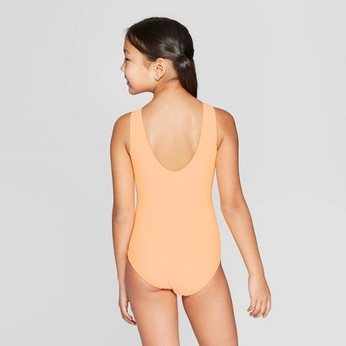 3f6ee47b2d1b9 Girls' Flip Sequins Flamingo Frenzy One Piece Swimsuit - Cat & Jack™ Orange  : Target
