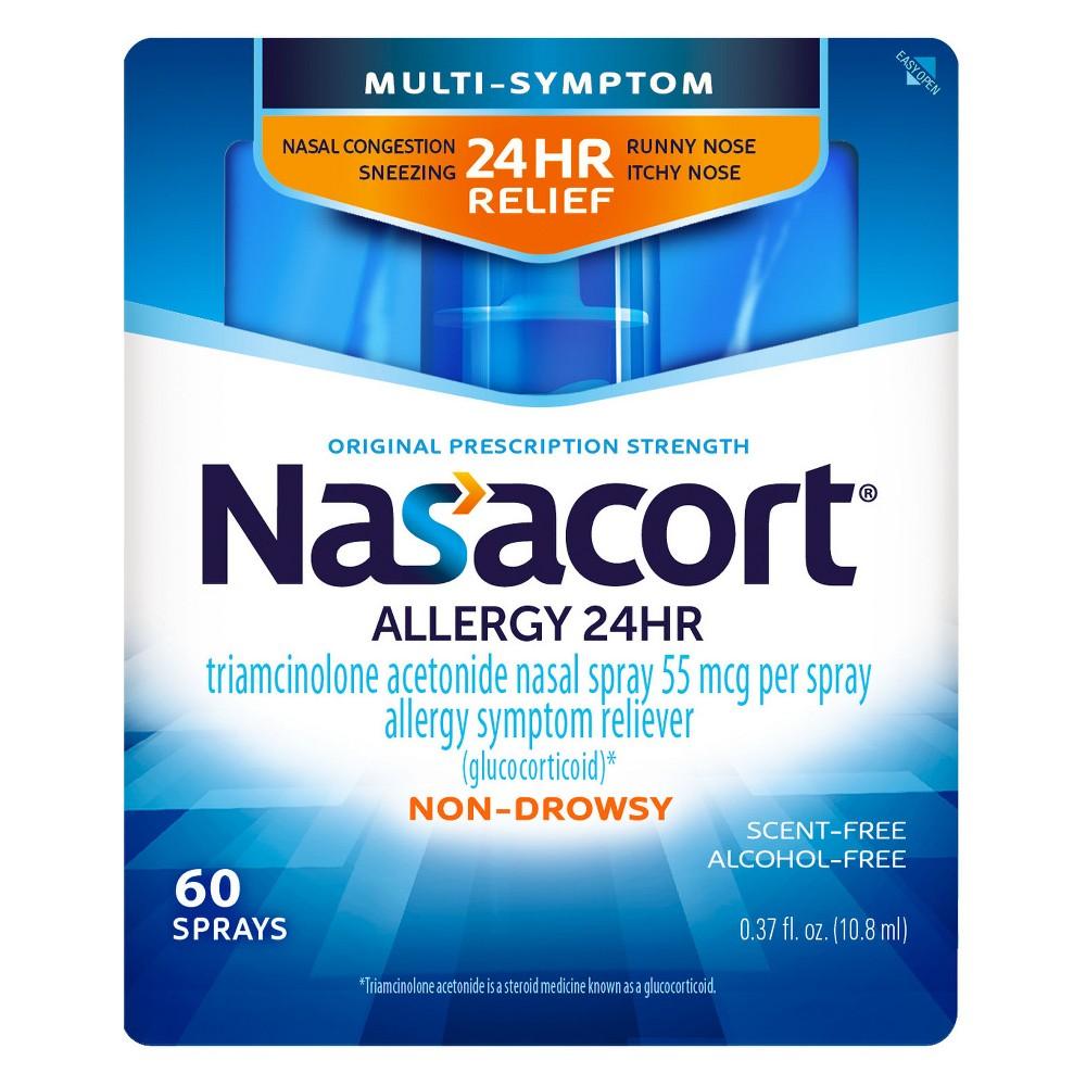 Nasacort Allergy Relief Spray - Triamcinolone Acetonide - 60 Sprays