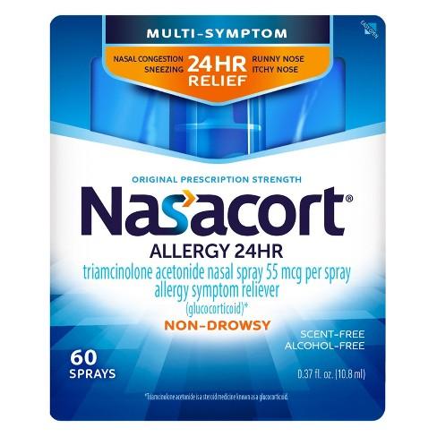 Nasacort Allergy Relief Spray Triamcinolone Acetonide Target
