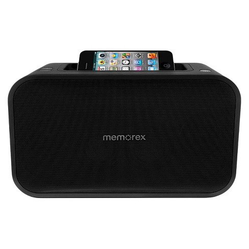 Memorex Universal Line-in Speaker with USB Charger - Black (ML621) - image 1 of 2