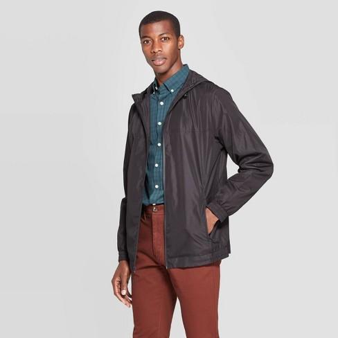 Men's Standard Fit Long Sleeve Lightweight Rain Jacket - Goodfellow & Co™ Black - image 1 of 2