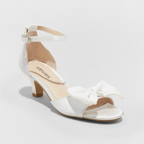 Girls' Stevies #SHOOTINGSTAR Dressy Ankle strap sandals - White - image 1 of 3