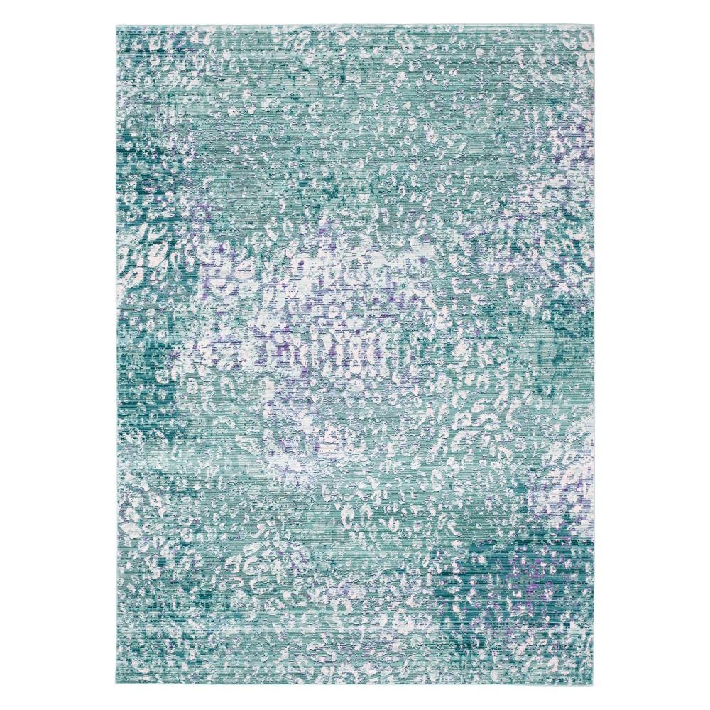 6'X9' Animal Print Loomed Area Rug Blue - Safavieh