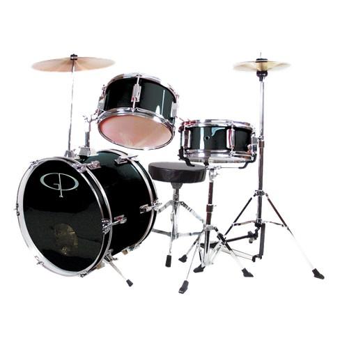 GP Percussion GP50 3-pc. Complete Junior Drum Set - Black - image 1 of 1