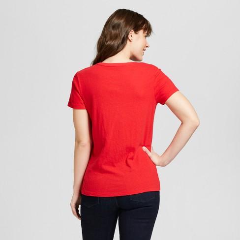 e0ef8997b233ac Women's Monterey Pocket V-Neck Relaxed Fit Short Sleeve T-Shirt - Universal  Thread™