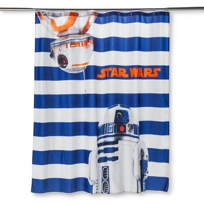 Star Wars® Blue Shower Curtain