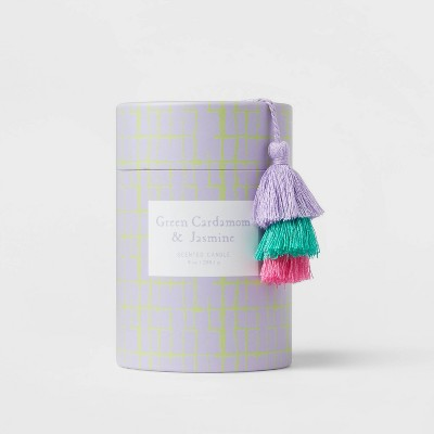 9oz Global Glass Jar Boxed Green Cardamom and Jasmine Candle - Opalhouse™