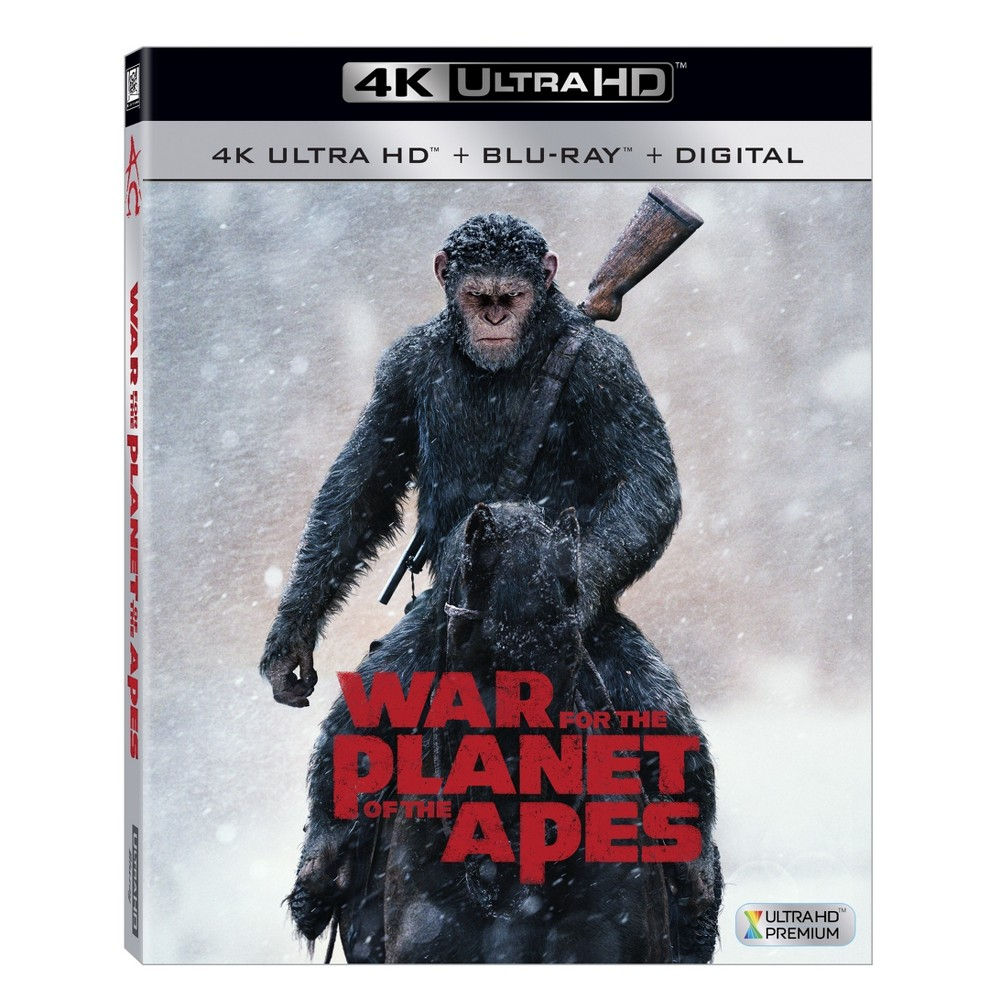 War For The Planet Of The Apes (4K/UHD + Blu-ray + Digital) was $24.99 now $15.0 (40.0% off)