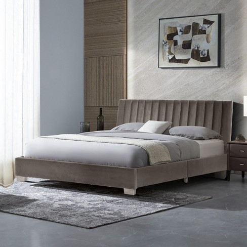 Costway Queen Tufted Upholstered, Queen Upholstered Platform Bed Frame With Legs Jubilee Mattress
