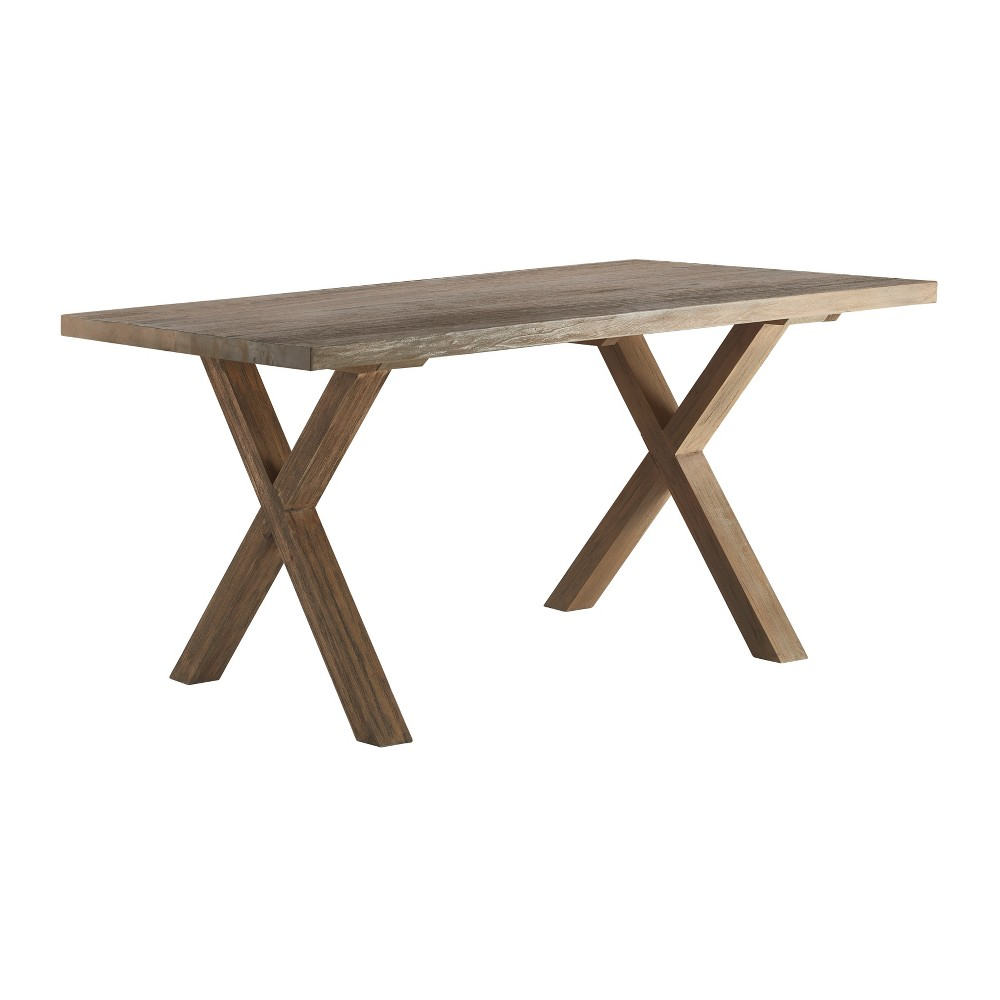Westport Trestle Dining Table Brown - Finch