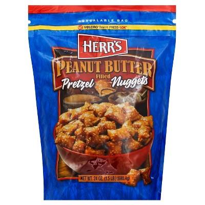 HERR'S Peanut Butter Filled Pretzel Nuggets - 24oz