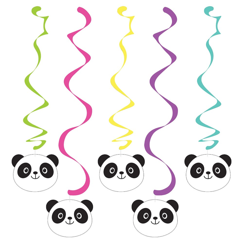 5ct Panda Dizzy Danglers, Party Decorations and Accessories