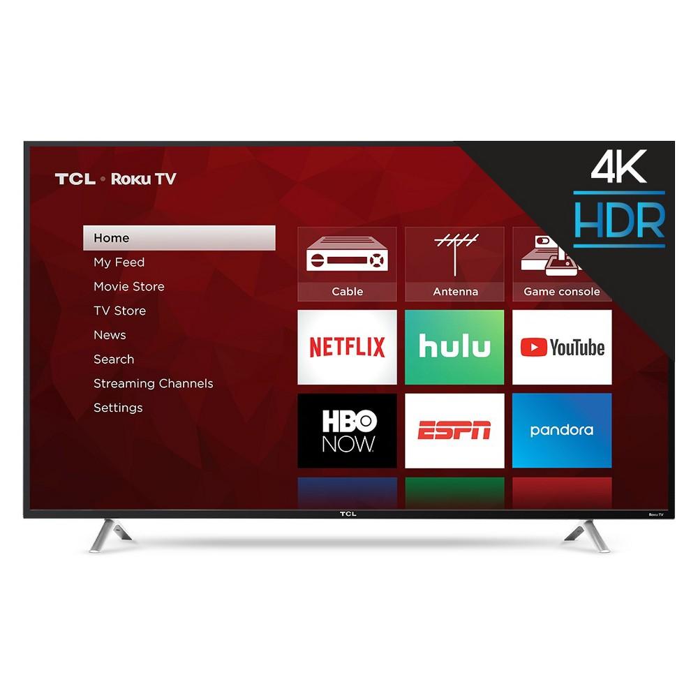 "TCL 55"" Roku 4K UHD HDR Smart TV (55S425), Black"