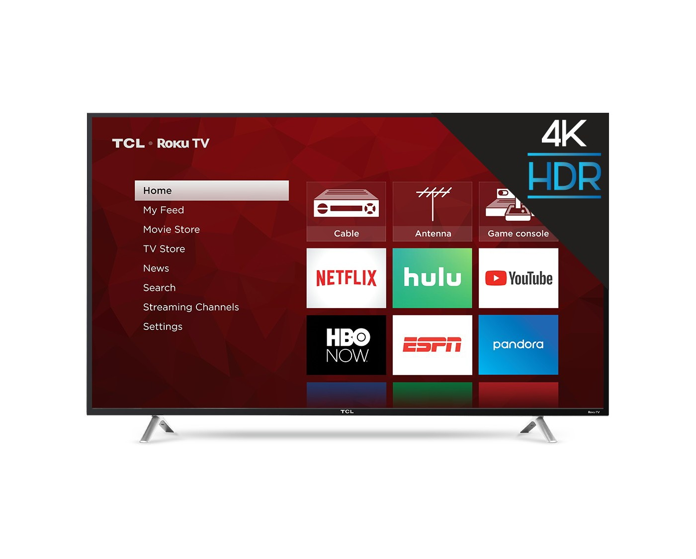 "TCL 55"" 4K HDR 120Hz CMI Roku Smart LED TV - Black (55S405) - image 1 of 14"