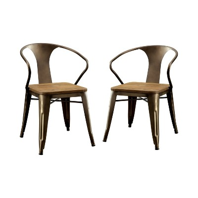 Set of 2 SmithsonWooden Seat Side Chair Natural - HOMES: Inside + Out