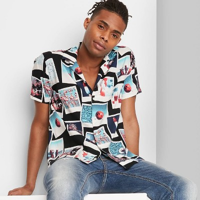 Adult Regular Fit Short Sleeve Button-Down Shirt - Original Use™ Black